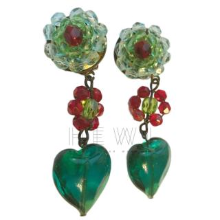 Giorgio Armani Vintage Floral Drop Earrings