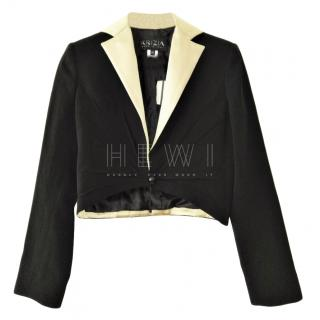 Krizia Black & White Short Jacket