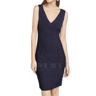 Herve Leger Purple Karima Signature Essentials Dress