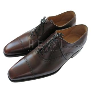 Kiton Brown Leather Lace-Up Brogues