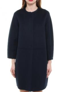 Max Mara Wool & Angora Blend Collarless Coat