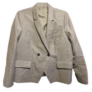 Gerard Darel Grey Wool Tuxedo Blazer