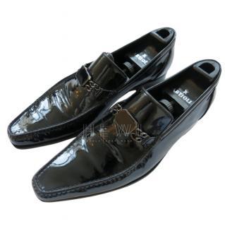 Vito Artioli Black Patent Leather Men's Loafers