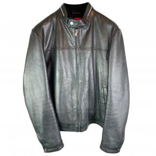 Hugo Hugo Boss Lambs Leather Biker jacket