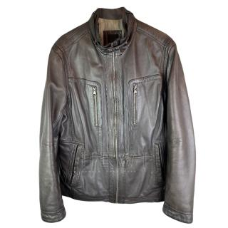 Boss Hugo Boss Brown Leather Jacket