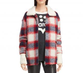 Isabel Marant Etoile Gimo Plaid Wool-blend Jacket