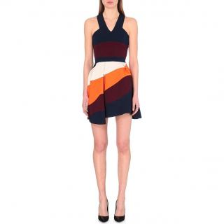 Victoria Beckham Stripe Panel Mini Dress