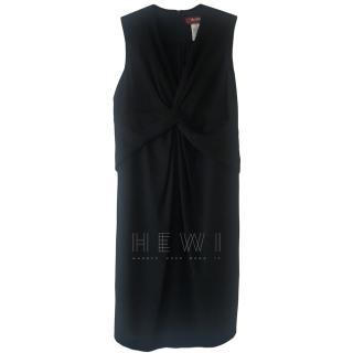 Max Mara Twist Front Black Dress