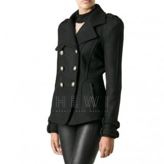 Balmain Black Tailored Wool Jacket