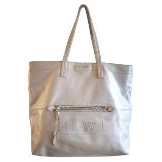 Miu Miu Pearl Grey Leather Shopper Tote