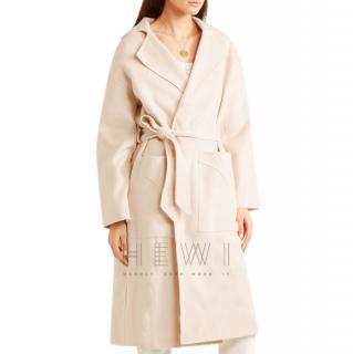 Nanushka Alamo wool and silk-blend felt coat
