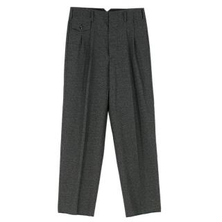 Golden Goose High Waist Charcoal Wool Trousers