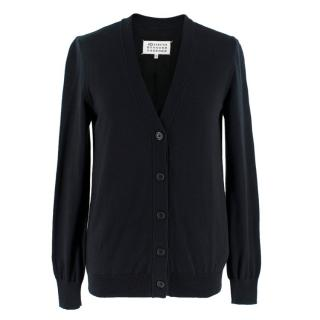 Maison Margiela Black Zip Back Cardigan