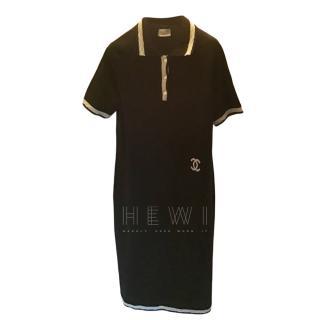 Chanel Black Cashmere CC Polo Dress