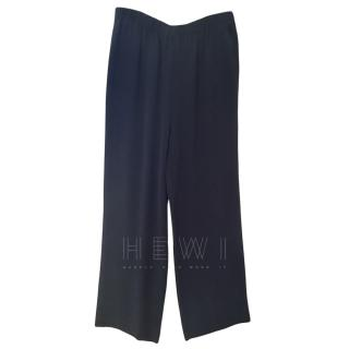 Equipment blue silk straight leg trousers
