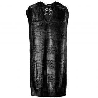 Balenciaga Black Open Knit Dress