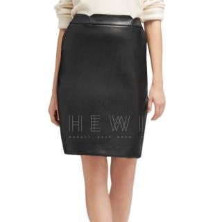 Yves Saint Laurent Leather Trim Pencil Skirt