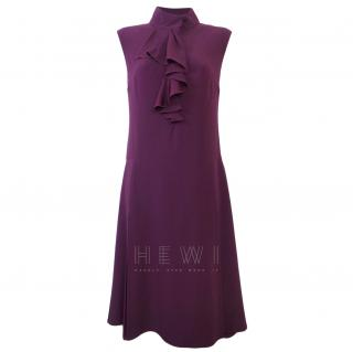 Prada Purple Silk Midi Dress