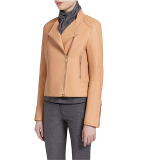 Mulberry Camel Leather Biker Jacket