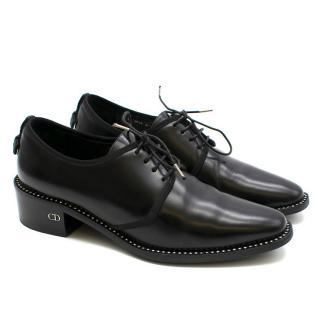 Dior Black Studded Oxford Loafers