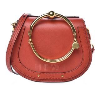 Chloe Earthy Red Small Nile Bracelet Bag