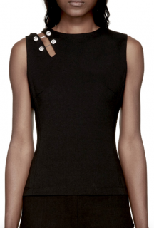 Versus Versace Safety Pin Embellished Sleeveless Top