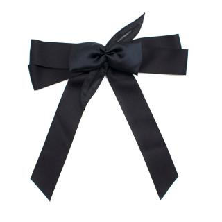 Chanel Black Bow Pin Brooch