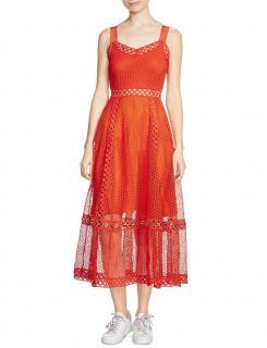 Maje Coral Rita Techno Lace Dress