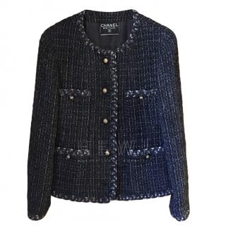 Chanel Grey Tweed Tailored Jacket