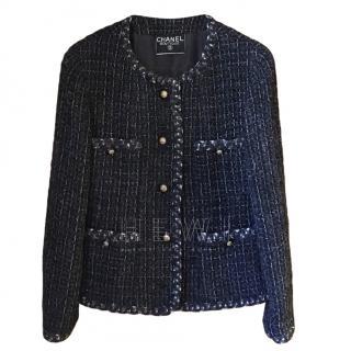 Chanel Grey Tweed Tailored Jacket