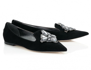 Jimmy Choo glacier pointed toe flats