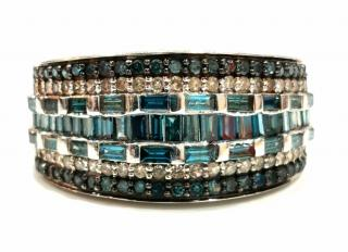 Bespoke 9ct Blue & White Diamond ring