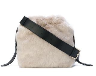 Furla Caos S Eco Fur Drawstring Bag