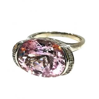 Bespoke Morganite & Diamond white gold ring