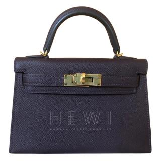 Hermes dark purple mini Kelly Bag