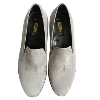 Zilli Grey Suede Loafers