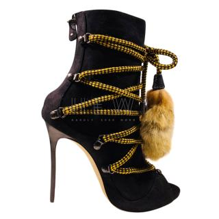 DSquared Riri Suede Lace-Up Ankle Boots
