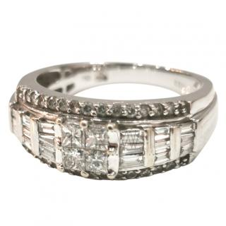 Bespoke 18ct White Gold Diamond Cluster Ring