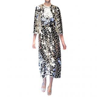 Dolce & Gabbana Runway Broken Mirror Mosaic Midi Dress