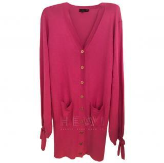 Mulberry Longline Pink Cardigan