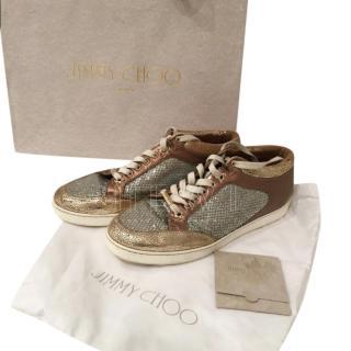 JImmy Choo Metallic Low-Top Sneakers