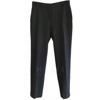 Mulberry Fleece Wool Ankle Crop Skinny Pants
