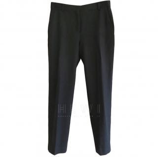 Mulberry Fleece Wool Ankle Crop Skinny Pants