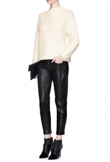 Frame Black 'le Gar�on' Leather Pants