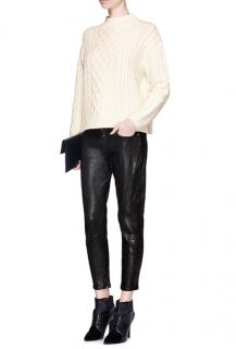 Frame Black 'le Gar�on' Leather Pants