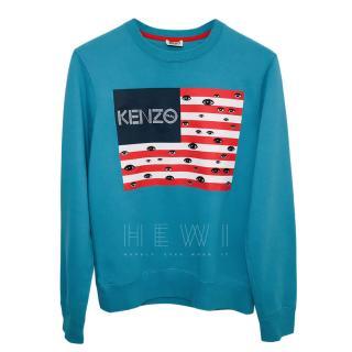 Kenzo Blue Eye American Flag Sweatshirt