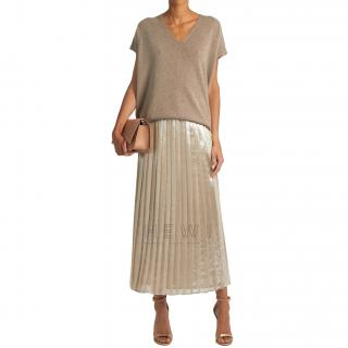 Max Mara Faro Skirt in Metallic