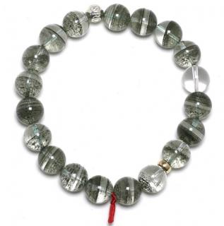 Venusrox Chlorite Phantom Quartz 11.5mm Bead Bracelet