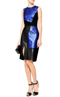 Prabal Garung Colour Block Metallic Strretch Dress