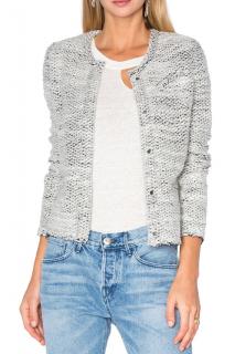 Iro Tweed Wool Knit Jacket